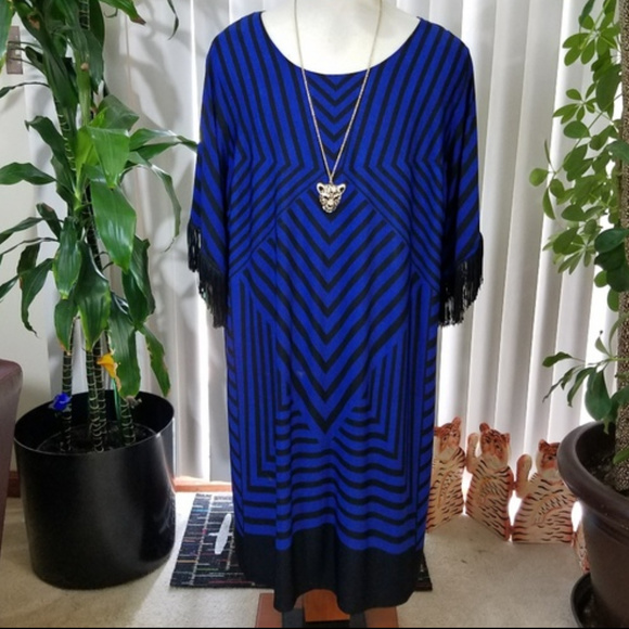 Catherines Dresses & Skirts - Plus Catherine's striped design dress